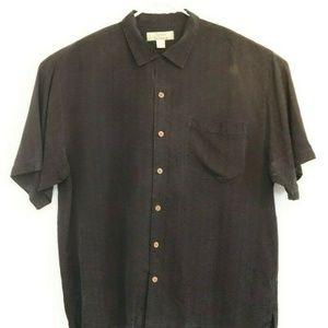 Tommy Bahama Mens Shirt Short Sleeve 100% Silk